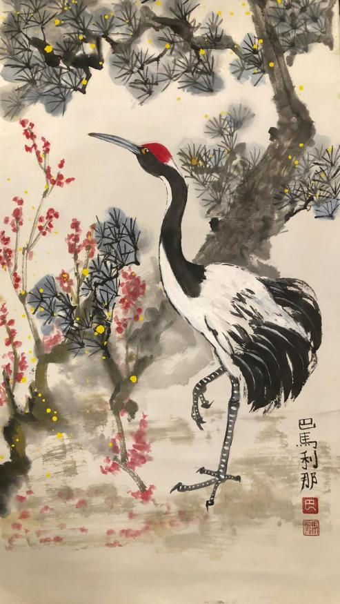 Red-Crowned Manchurian Crane